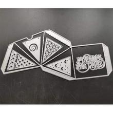 ZATWBS trójwymiarowe pudełko wykrojniki dla majsterkowiczów Scrapbooking dekoracyjne tłoczenie Stencial DIY Decoative karty wycinarka