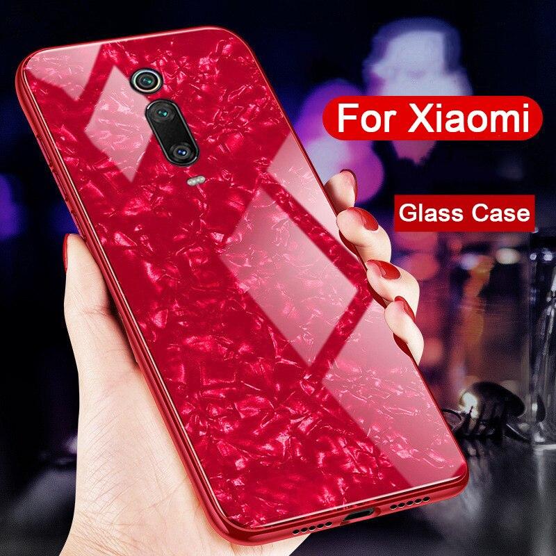 3D Mármore Caixa De Vidro Temperado para Xiao mi mi 9 T Pro Casos de Telefone no Xio mi mi mi 9t mi 9tpro 9 T 9TPro Borda TPU Macio Back Covers