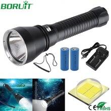 BORUiT XHP70.2 lampe de poche Led puissant 4000LM gradation continue plongée torche lumière étanche 26650 Rechargeable lampe torche