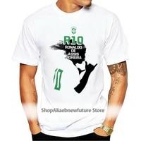 tide brand short sleeve t shirt ronaldinho brasil spain barcelona barca world player jersey tees mens top high quality