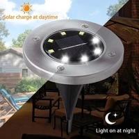8pcs solar light outdoors waterproof 8 led solar street light garden decor buried stair lamp underground decking lampy solarne