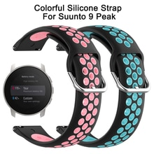 Silicone Band for Suunto 9 peak Wrist Strap For Suunto 9 peak Colourful Replacement Belt Watchband B