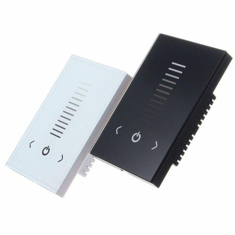 DC12-24V 8 a/atenuador 3 canales LED empotrados CH Panel de pared solo Color táctil para tira táctil