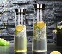 11 5l heat proof thickened glass kettle with stainless steel lid carafe water bottle for hotcold water juice kitchen bar
