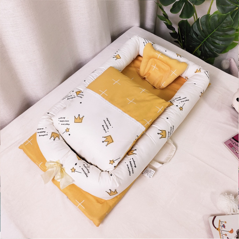 pigeon newborn pure travel set Newborn Baby Portable Removable Breathable Crib Pure Cotton Baby Crib Foldable Baby Bed Multifunctional Kids Travel Bed