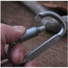1PC D Shaped Camping Carabiner Aluminum Alloy Locking Hook Ring Key Climbing Outdoor Camping Climbing Tools Accessories