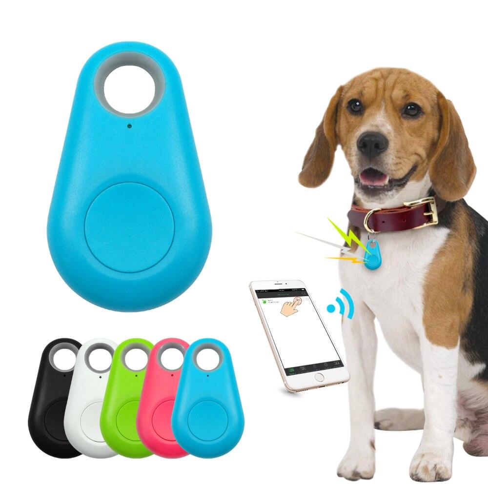 Pet Smart GPS Tracker Mini Anti-Lost Waterproof Bluetooth Locator Tracer For Pet Dog Cat Kids Car Wa