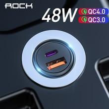 Chargeur rapide 4.0 48W QC PD 3.0 chargeur de voiture pour Samsung S10 9 chargeur rapide de voiture pour Xiaomi iPhone Type C PD chargeur USB de voiture