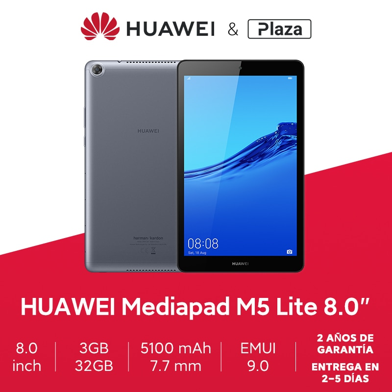Global version Tablet PC HUAWEI MediaPad M5 lite 8.0 ''1920x1200 screen 3GB 32GB Kirin 710 5100 mAh Android 9