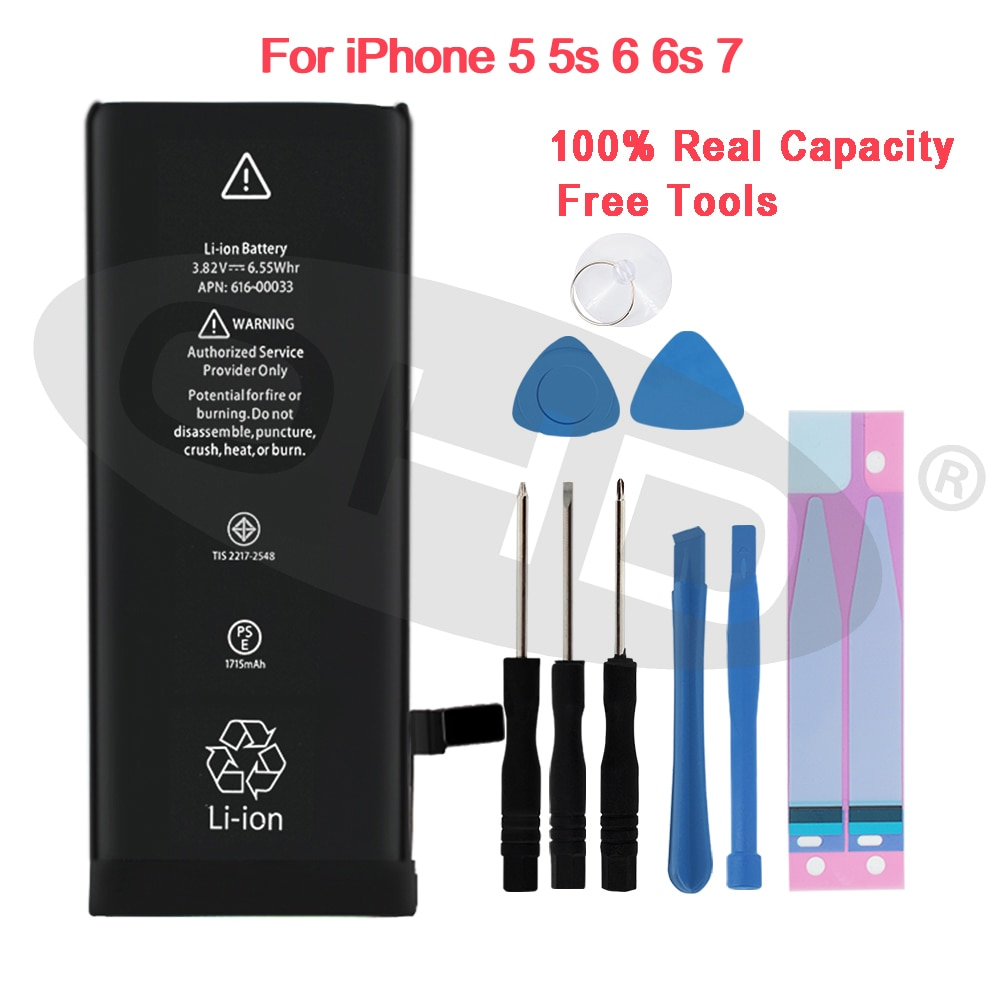 Newest Lithium Battery For Apple iPhone 6S 6 7 5S 5 7 7P 6P 8P X Mobile Batteries For iphone X 5 5s 6 s Internal Phone Bateria 10pcs 1608a1 1610a1 1610a2 1610a3 610a3b 1612a1 for iphone 5g 5s 5c 6 6p 6s 6splus 7g 7p 8 8p x u2 charger ic usb charging chip