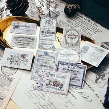 10Pcs/Set Vintage French Ticket Label Tags Sticker DIY Craft Scrapbooking Album Junk Journal Planner Decorative Stickers