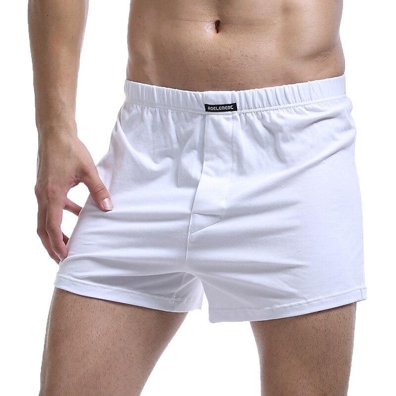 2pcs Mens Boxer Shorts Soft Stretch Knit Breathable Cotton Boys Men Underwear Boxers Long Panties Sleep Bottoms Plus Size