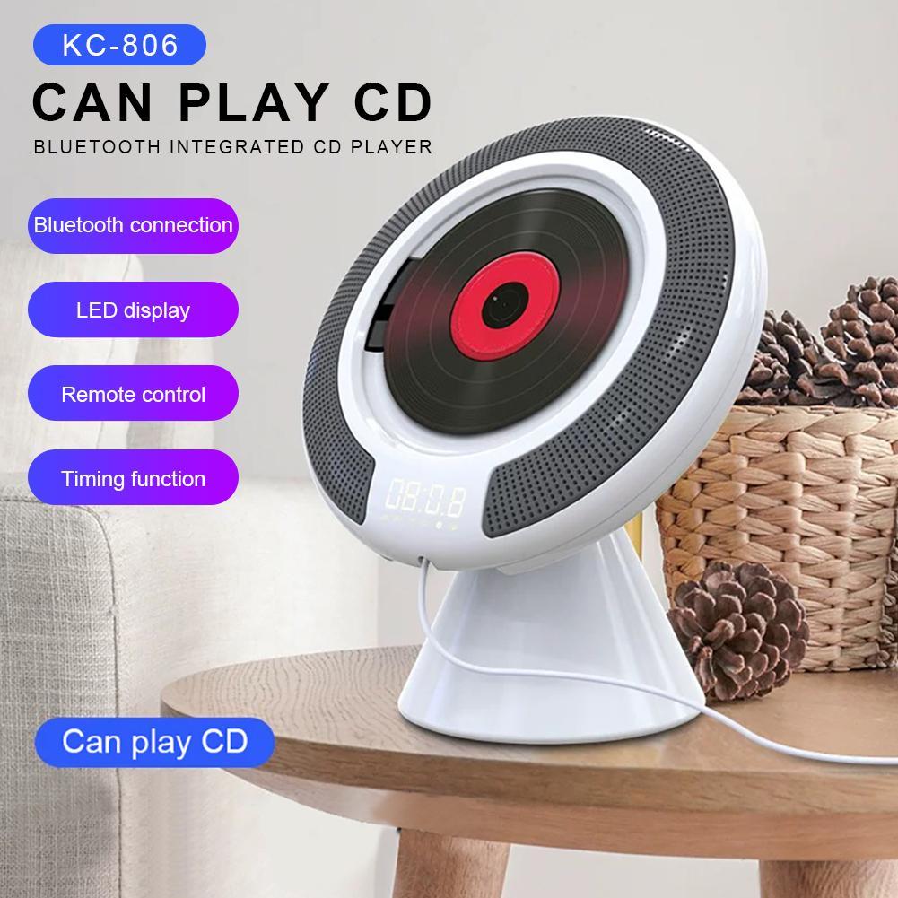 Le plus récent lecteur CD mural Bluetooth Portable Audio à la maison avec télécommande Radio FM haut-parleurs HiFi intégrés USB MP3