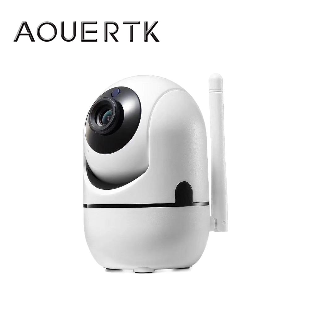 AOUERTK-كاميرا أمان لاسلكية ، تتبع تلقائي ، كشف الحركة ، IP 720P ، WifI ، صوت ثنائي الاتجاه ، دعم 64G