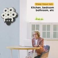 Support de stockage de mouchoirs en metal en forme de mouton noir creatif  support mural pour le papier toilette