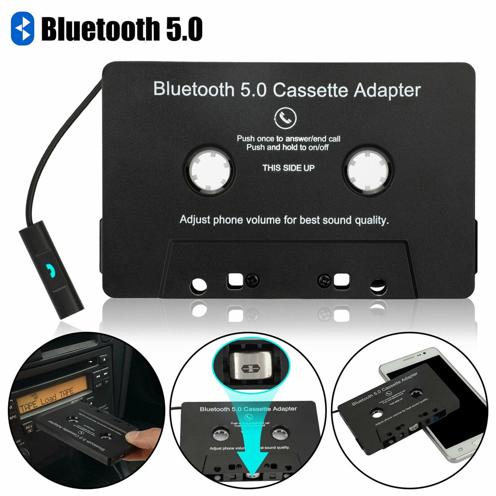 Bluetooth 5,0 автомобильный аудио стерео кассета лента адаптер для Aux для Iphone Samsung кассета магнитофон кассета проигрыватель