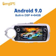 Für Toyota Yaris 2013 2014 - 2017 Auto Multimedia Player Android IPS Bildschirm Audio Radio Stereo autoradio GPS Navigation Kopf einheit