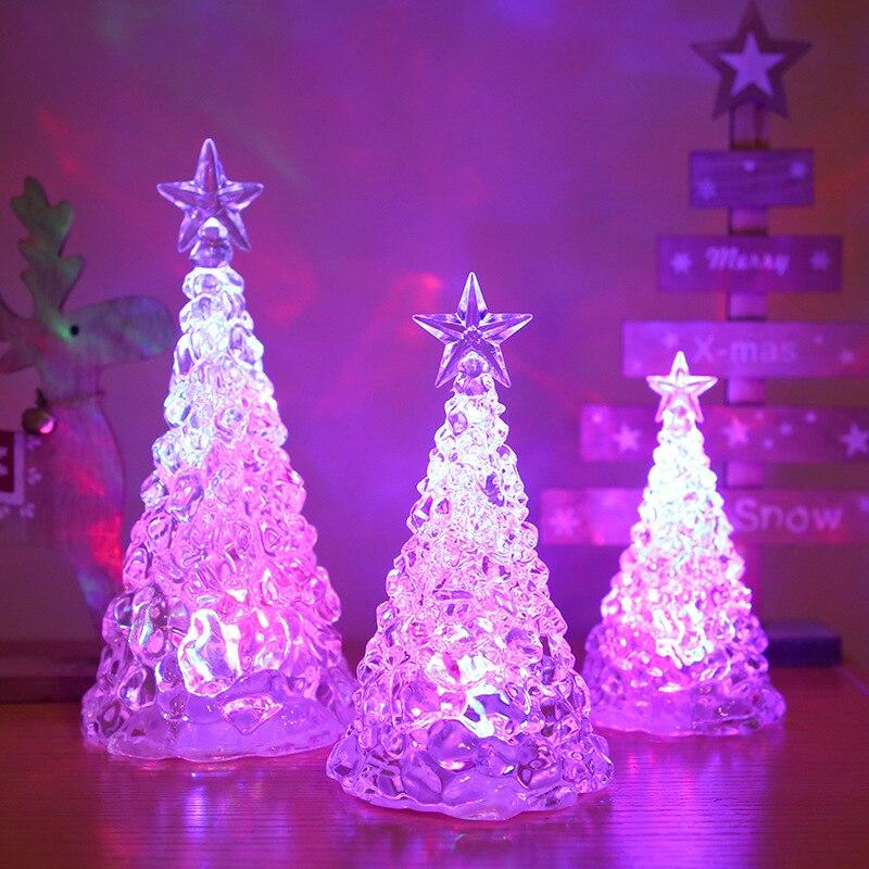 Сказочная разноцветная лампа для рождественской елки PheiLa, питание от батареи для рождественской елки