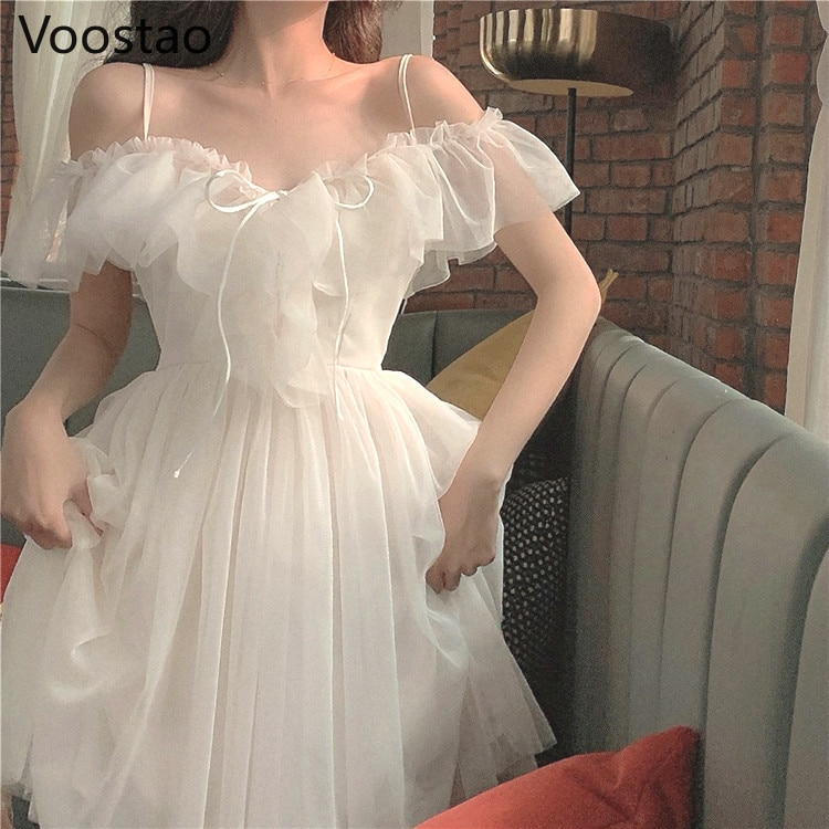 مثير الحلو لوليتا فستان المرأة منخفضة الصدر قبالة الكتف ضمادة الفستان الفيكتوري Kawaii فتاة الأميرة الشاي حفلة Loli تأثيري الجنية