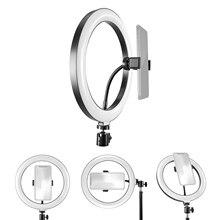 Кольцевой светильник 10 дюймов светодиодный заполняющий светильник с питанием от USB 3 цвета температуры с телефона штатив с зажимом для макияжа селфи прямые трансляции Vlog