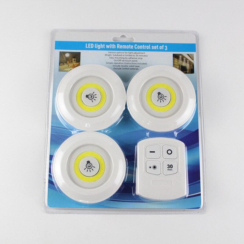 Luz Nocturna táctil regulable luz LED para debajo de gabinete armario lámpara de iluminación de cocina con Control remoto