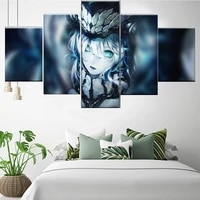 5 pieces wall art canvas painting anime character poster modern bedroom home decoration modular living room framework pictures