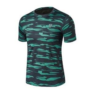 Men Sport Running T Shirt Camouflage Sportswear Short Sleeve Fitness Gym Shirt Quick Dry Basketball Training T Shirt
