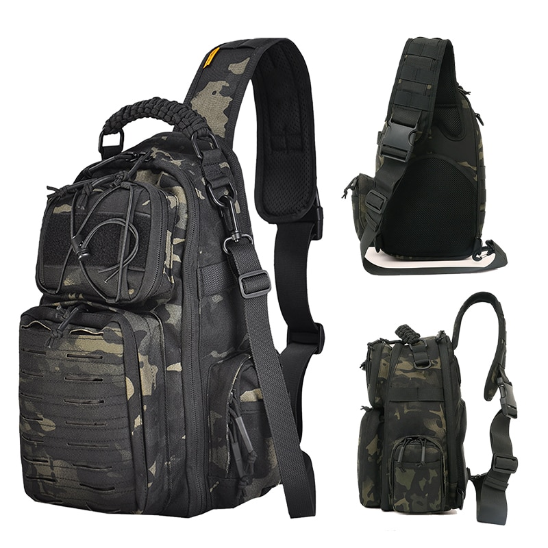 Military Tactical Chest Bags Sling Shoulder Bag Travel Backpack Molle Waterproof Hiking Camping Pack Hunting Camouflage Army Bag
