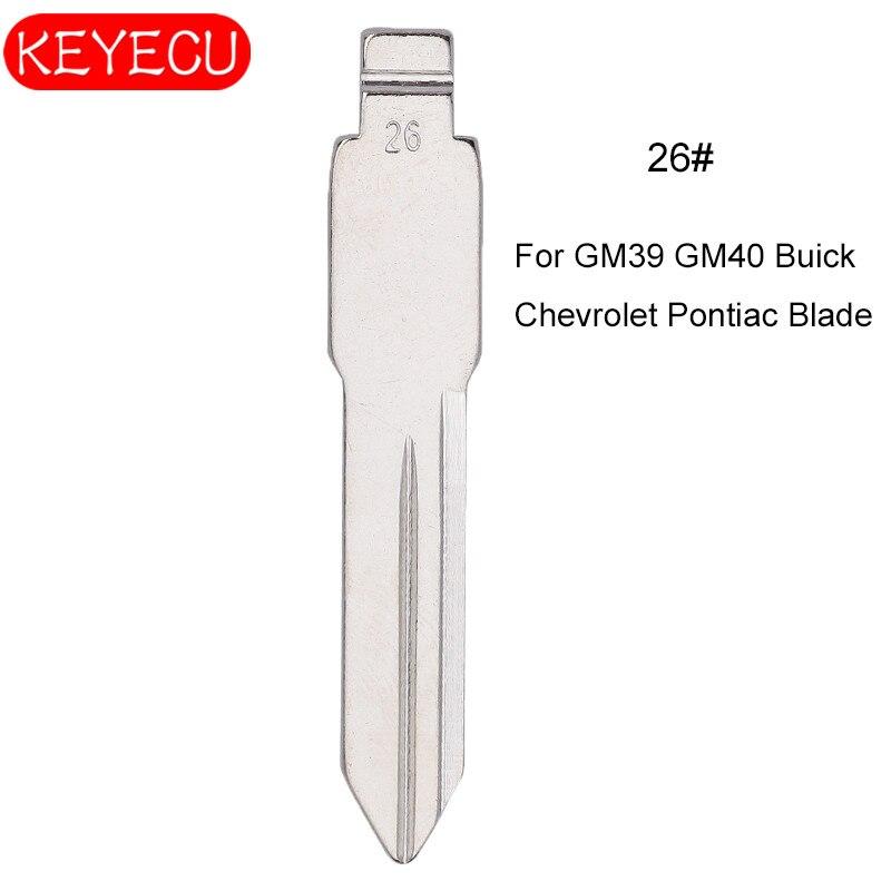 KEYECU 10 Uds KEYDIY controles universales Flip hoja 26 #¡GM39 GM40 GM41 para Buick Chevrolet un Oldsmobile Pontiac Hummer