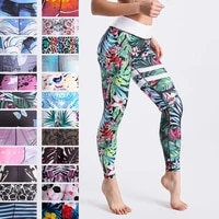 12 spandex high waist digital printed fitness leggings push up sport gym leggings women