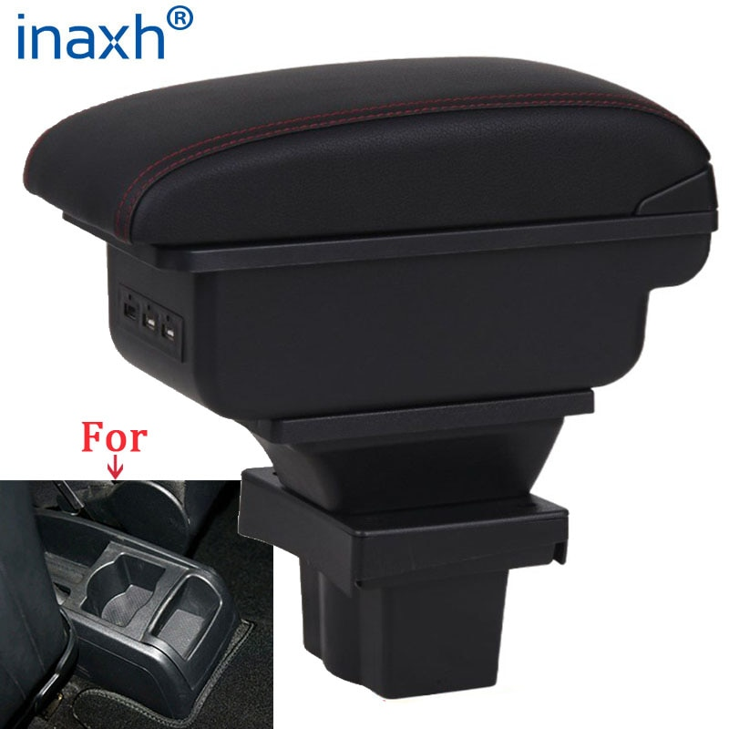 For Skoda Octavia Armrest box For Skoda Yeti Mk2 2005-2012 Car Armrest Retrofit parts Storage box car accessories USB for suzuki swift armrest box 2005 2019 car armrest car accessories interior storage box retrofit parts usb 2011 2014 2017 2018