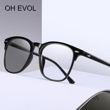 OH EVOL 2021 Retro Photochromic Lens Anti Blue Light Sunglasses Optical Glasses For Men Lady Goggle