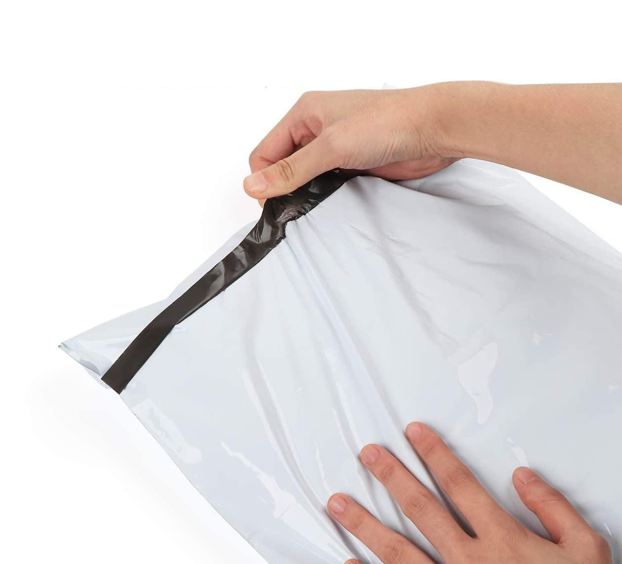 البلاستيك الارسال الشحن حزمة المغلف حقيبة ذاتية اللصق الأبيض بولي كورييه حقيبة المنتج حقيبة التعبئة والتغليف