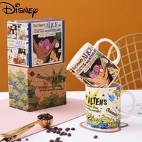 disney milk cup collection cup ceramic material with spoon mug simple cute cartoon large capacity breakfast cup