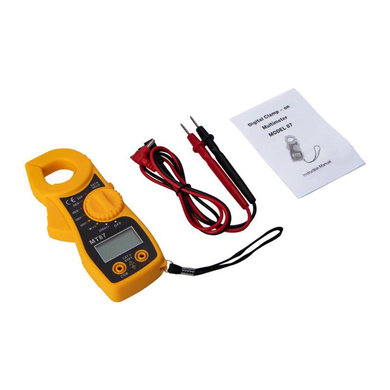 MT87 LCD Digital Clamp Meter Multimeter AC/DC Ammeter Voltmeter Resistance Test 69HF