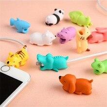Милые животных Bite кабель защита рукав Уиндер кабель протектор для iPhone укусов кукла модель держатель