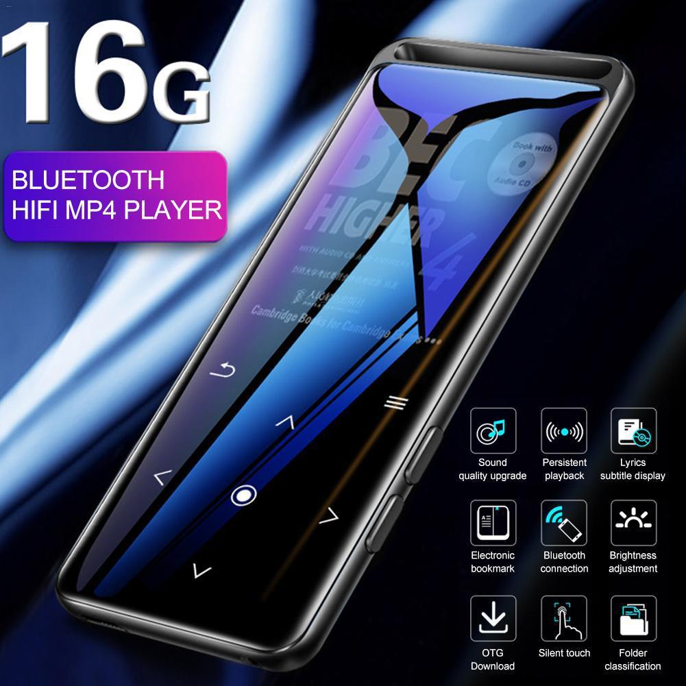 Bluetooth 5,0 16GB Mini reproductor MP3 portátil 1,8 pulgadas reproductor de Audio HiFi con Radio FM E-Book grabadora de voz reproductor de música MP3