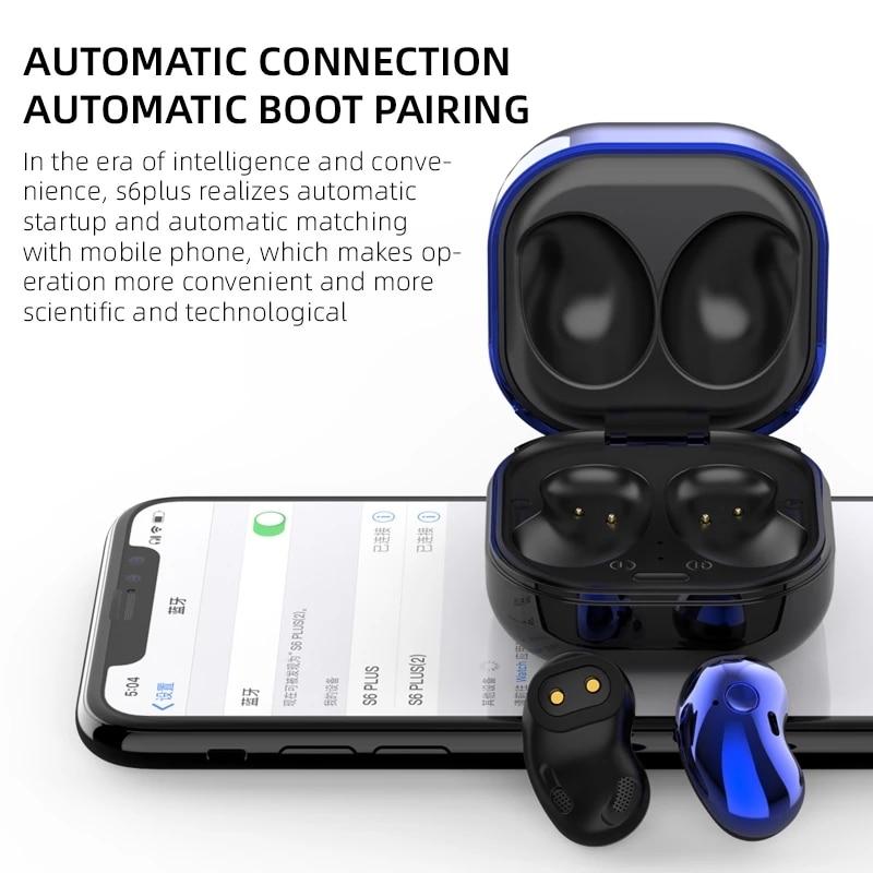 S6 Plus Bluetooth Earphone Music Headset Waterproof Earpiece Sport Earbuds For Iphone Huawei OPPO Xiaomi TWS Wireless Headphones enlarge