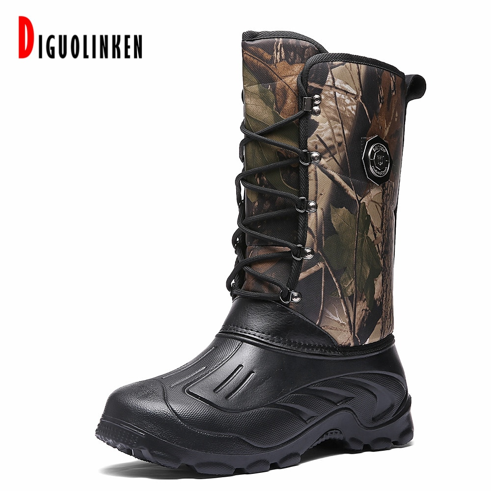 Hot Sale Men Winter Boots Warm Leather Snow Boots Male Waterproof High Boots Men Army Casual Hunting Motocycle Tactical Military