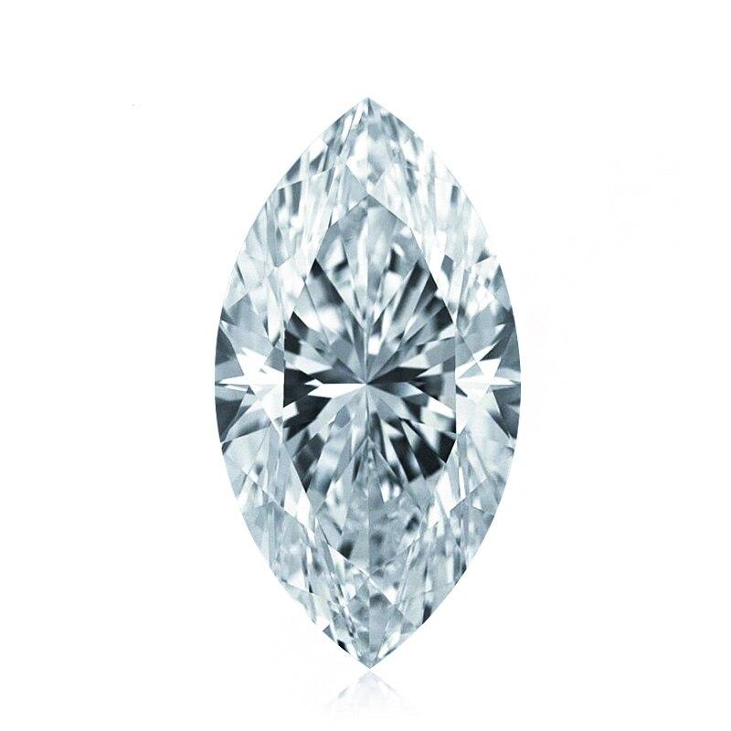 6*12 مللي متر 2CT اختبار إيجابي مويسانيتي الماس الحصان العين F اللون VS1 غرامة مويسانيتي الماس فضفاض ماركيز
