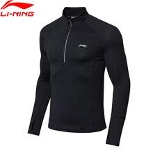 (Code de rupture) li-ning hommes pull de course T-Shirt mince coquille chaude 95% Polyester 5% Spandex doublure Li Ning hauts de sport ATLN147 MTL997
