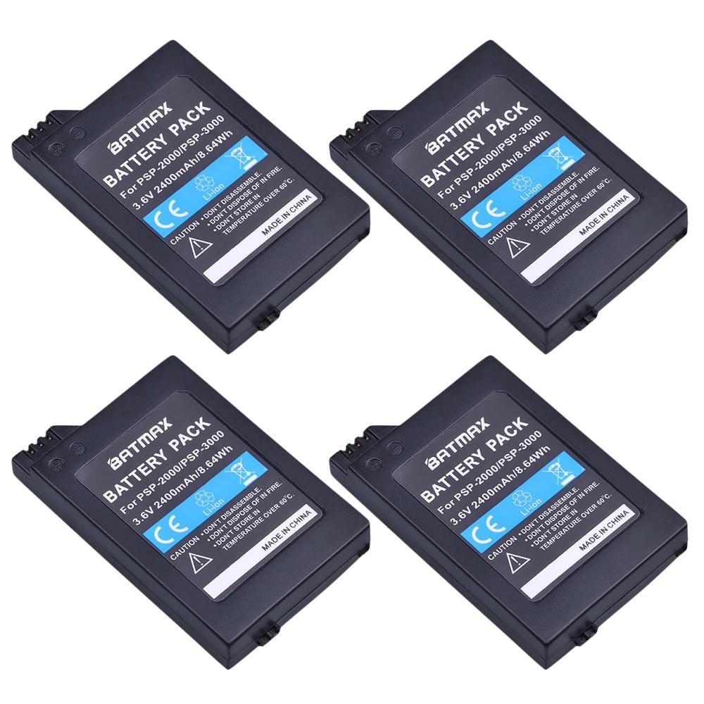 Batmax 4 шт. сменная батарея для sony psp 2000 psp 3000 psp 2000 3000 геймпад для playstation Портативный Контроллер