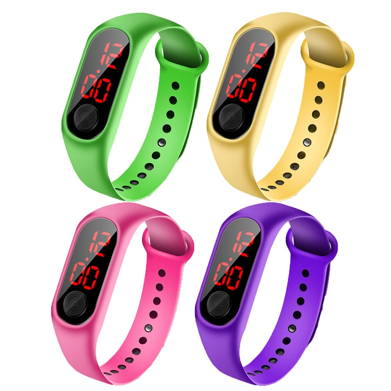Children Watches LED Digital Wrist Watch Bracelet Kids Outdoor Sports Watch for Boys Girls Electroni