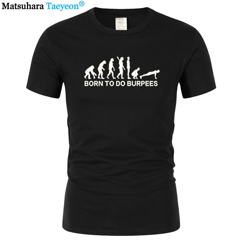 Camiseta estampada divertida de hombre a la moda Evolution Burpees Instructor Crossfit regalo Casual Camiseta de algodón de manga corta Tops camisetas sx-3XL