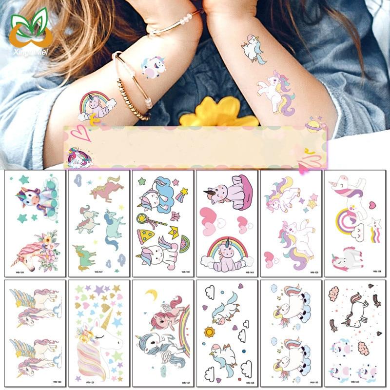 pegatinas-de-tatuaje-de-unicornio-de-dibujos-animados-para-ninos-10-uds-pcak-fiesta-de-cumpleanos-poni-arcoiris-pegatina-impermeable-juguete-de-navidad