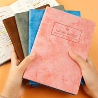 english vocabulary notebook thickened a5 small fresh word soft leather cover daily notes vocabulary notebook