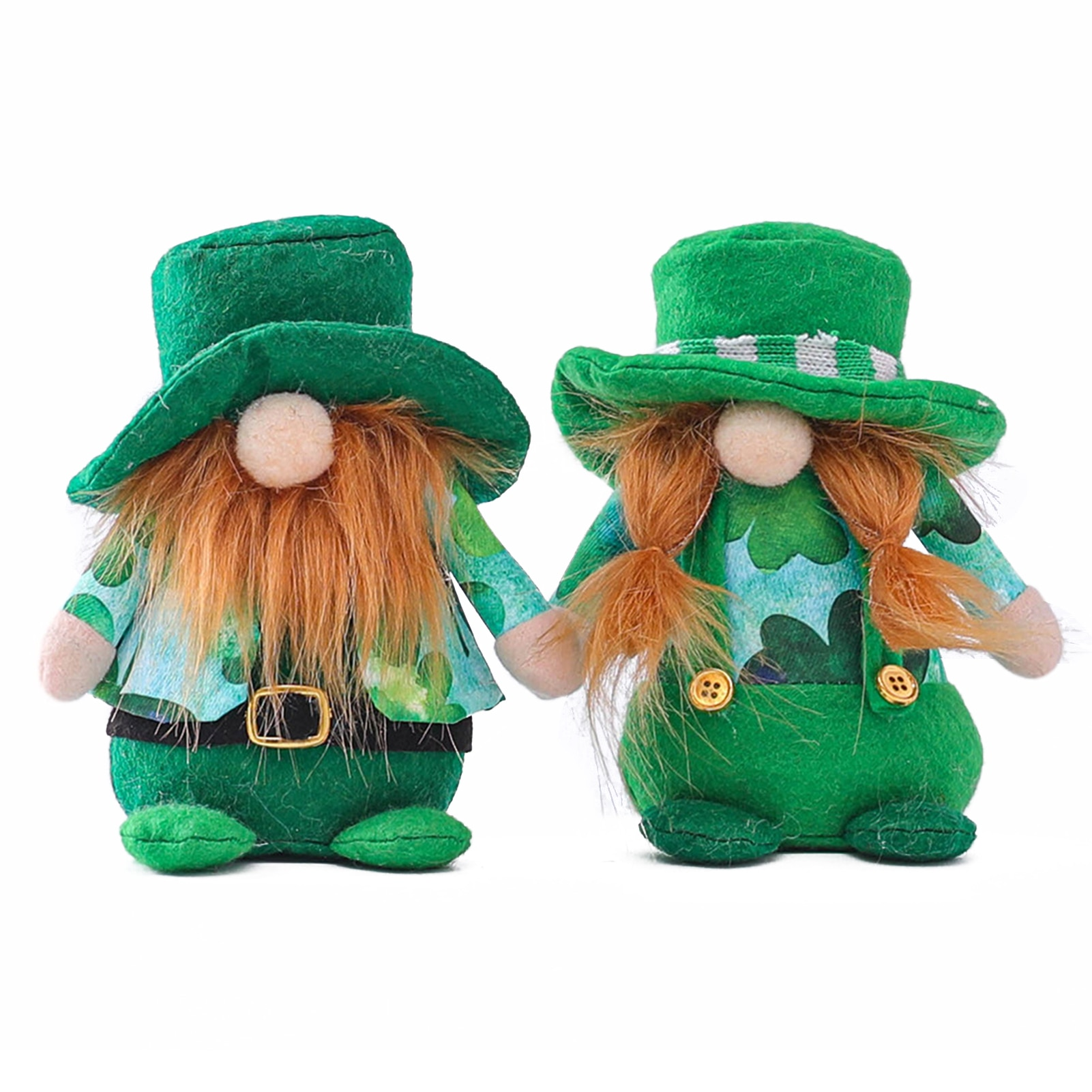 St Patricks Day Gnome Swedish Tomte Scandinavian Nisse Plushie Lucky toys brings good luck Lovely Plushie Ideal Gift for family
