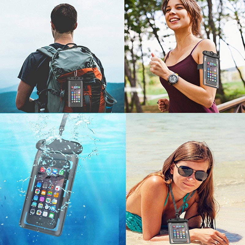 Фото - Сумка для купания Открытый Кемпинг сотовый телефон герметичный корпус с Arm ремень Водонепроницаемый чехол для Iphone 7/6 Plus Android сотовый телефон... сотовый телефон
