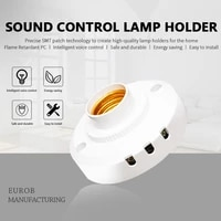 e27 sound voice sensor light lamp holder light and sound sensor lamp holder corridor home induction light control switch screw