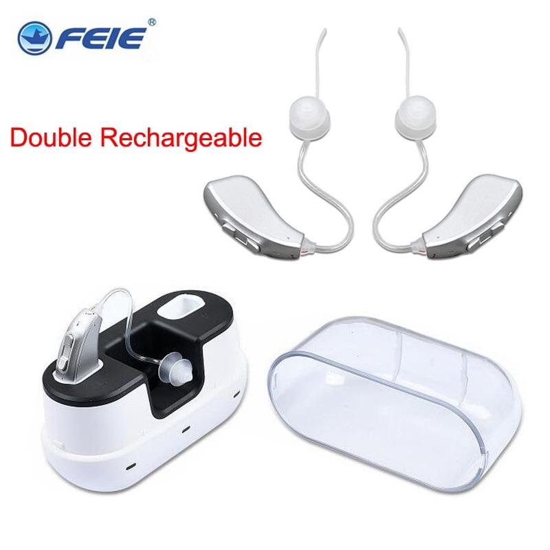Фото - Цифровой слуховой аппарат My-2, двойной перезаряжаемый BTE слуховой аппарат, усилитель звука с регулируемым тоном, для слабослышащих, пожилых ... слуховой аппарат zinbest vhp 220 l1154
